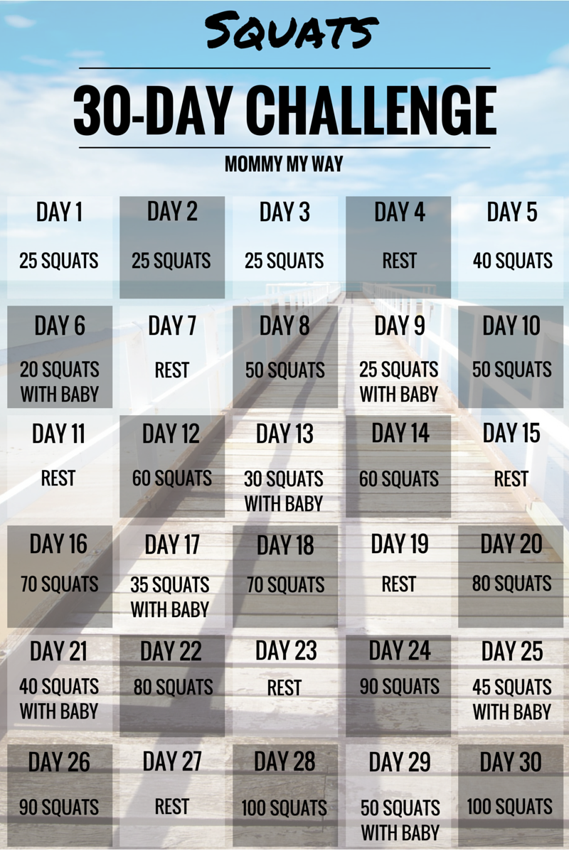 Mommy My Way 30 Day Squat Challenge